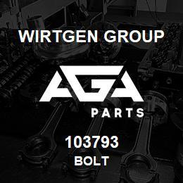 103793 Wirtgen Group BOLT | AGA Parts