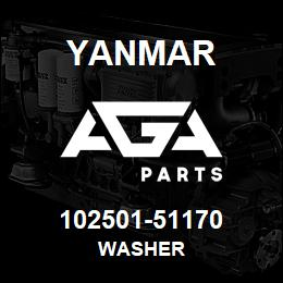 102501-51170 Yanmar washer | AGA Parts