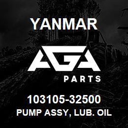 103105-32500 Yanmar PUMP ASSY, LUB. OIL | AGA Parts