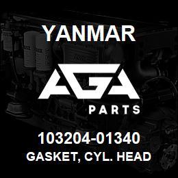 103204-01340 Yanmar GASKET, CYL. HEAD   AGA Parts