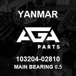 103204-02810 Yanmar main bearing 0.5 | AGA Parts