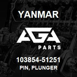 103854-51251 Yanmar PIN, PLUNGER | AGA Parts