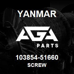 103854-51660 Yanmar SCREW | AGA Parts