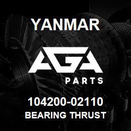 104200-02110 Yanmar bearing thrust | AGA Parts