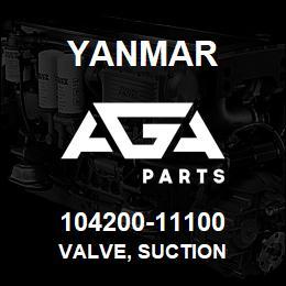 104200-11100 Yanmar valve, suction | AGA Parts