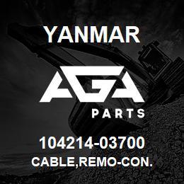 104214-03700 CABLE,REMO-CON  - 104214-03700 - Yanmar spare