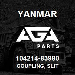 104214-83980 Yanmar COUPLING, SLIT | AGA Parts