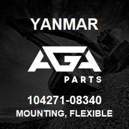 104271-08340 Yanmar mounting, flexible | AGA Parts