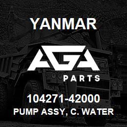 104271-42000 Yanmar pump assy, c. water | AGA Parts