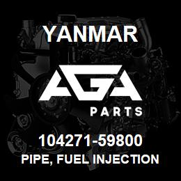 104271-59800 Yanmar PIPE, FUEL INJECTION | AGA Parts