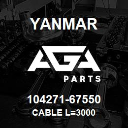 104271-67550 Yanmar CABLE L=3000   AGA Parts