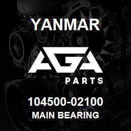 104500-02100 Yanmar main bearing | AGA Parts
