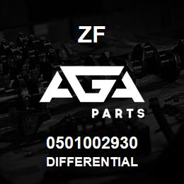 0501002930 DIFFERENTIAL - 0501002930 - ZF spare part, replacement part